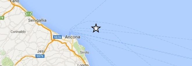 Terremoto al largo di Ancona: magnitudo 2.6. Profondità 10 km