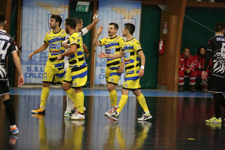 Calcio a 5. Acqua&Sapone Unigross: pokerissimo alla Lazio