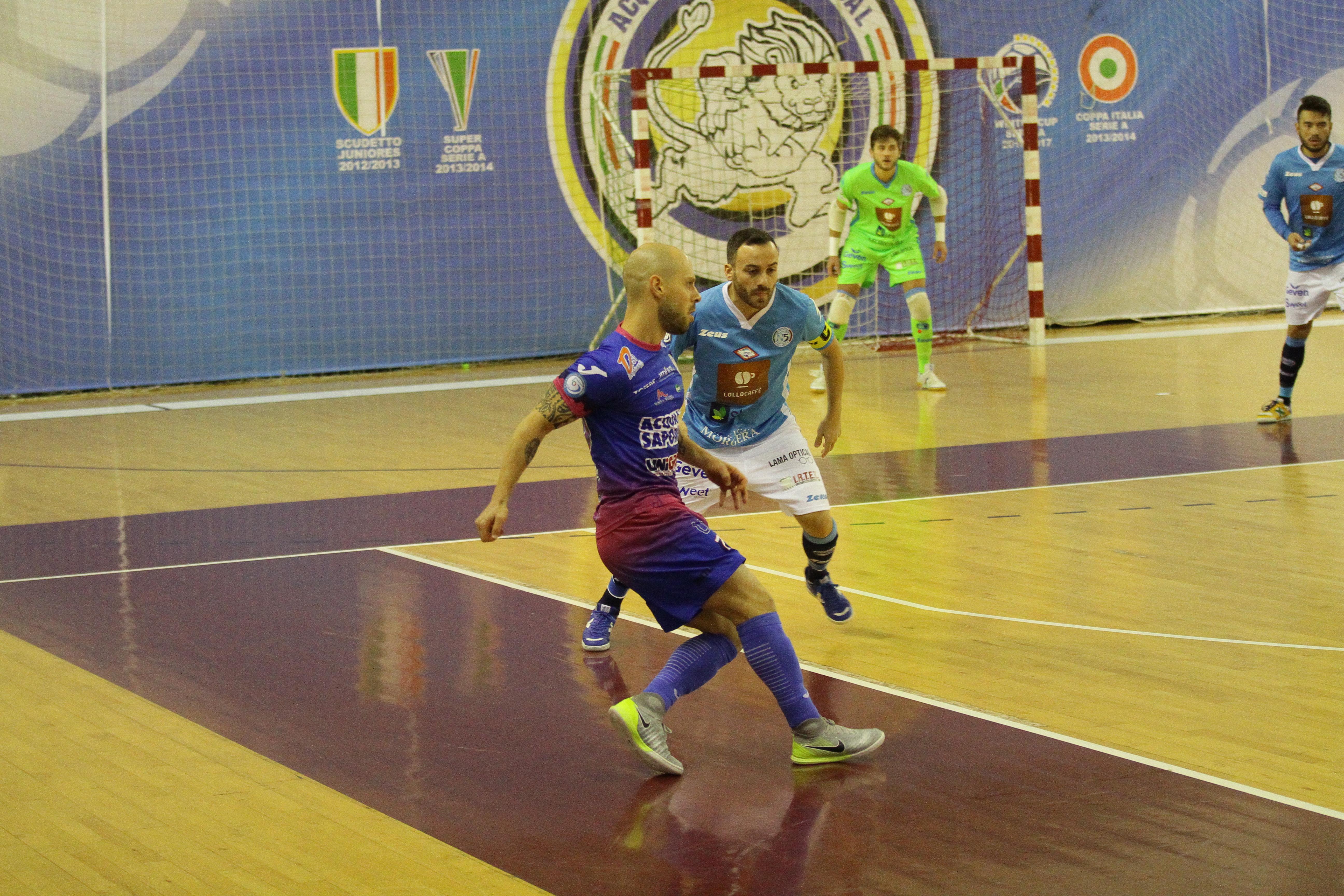 Calcio a 5. Acqua&Sapone:Vince (4-3) il Kaos, ma la vetta resta nerazzurra