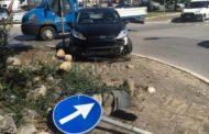 Incidente stradale: distrutta la nuova rotatoria davanti la fabbrica di Valentino Rossi