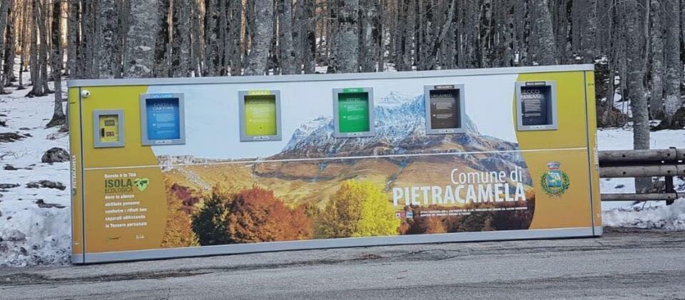 Raccolta rifiuti. Isole ecologiche automatizzate a Pietracamela, Prati di Tivo e Intermesoli
