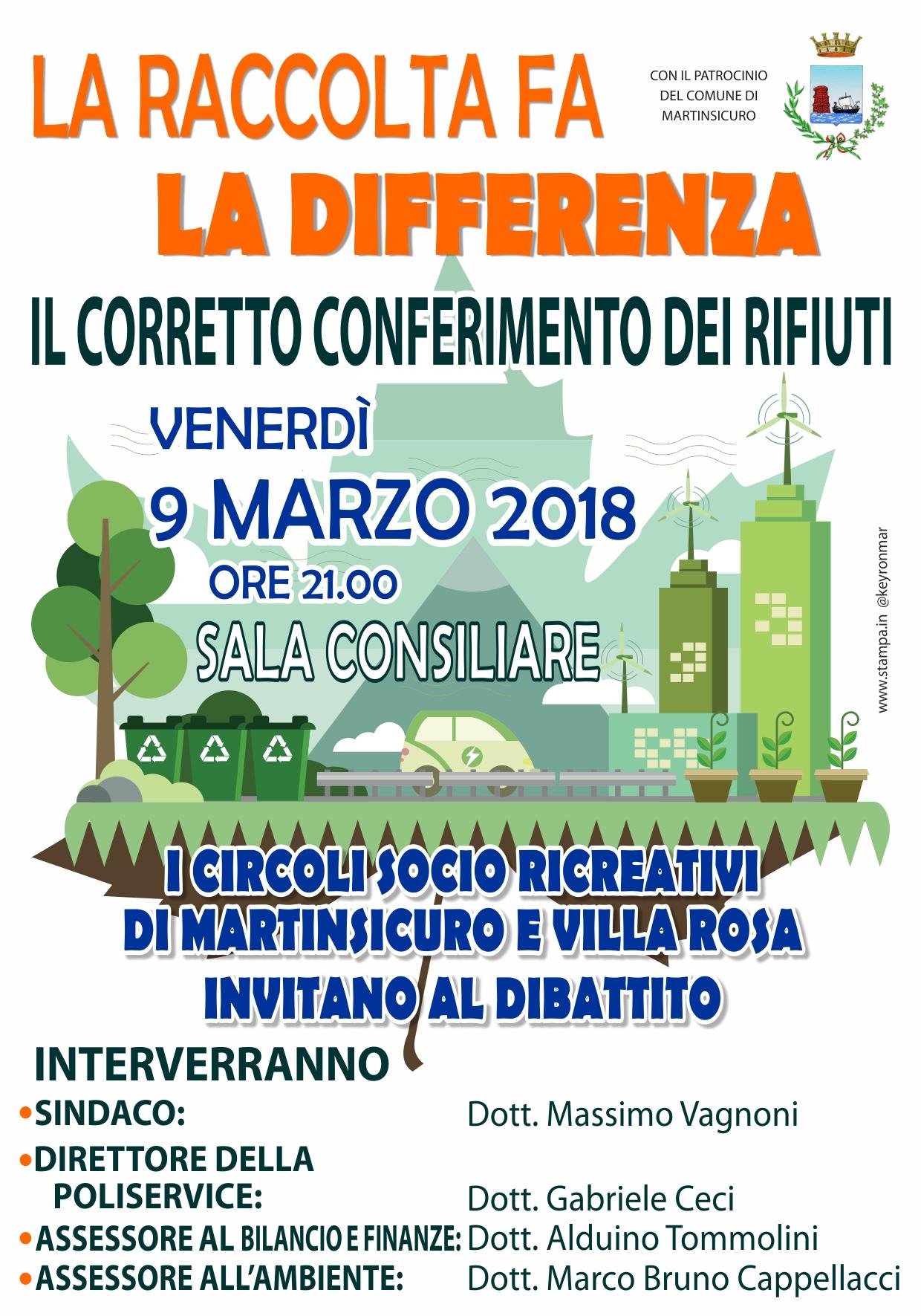 Martinsicuro.Raccolta differenziata e Centri Sociali Ricreativi: incontro con gli amministratori