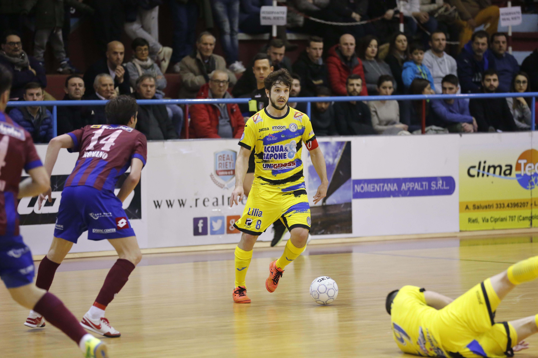 Calcio a 5. Acqua&Sapone:pareggio(2-2) spettacolo contro il Real Rieti