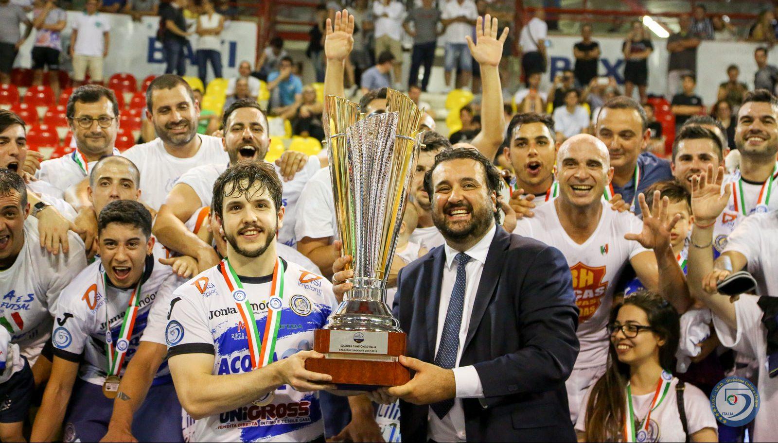 Calcio a 5. Acqua&Sapone Campione D'Italia. Ha battuto la Luparense per 4 a 2