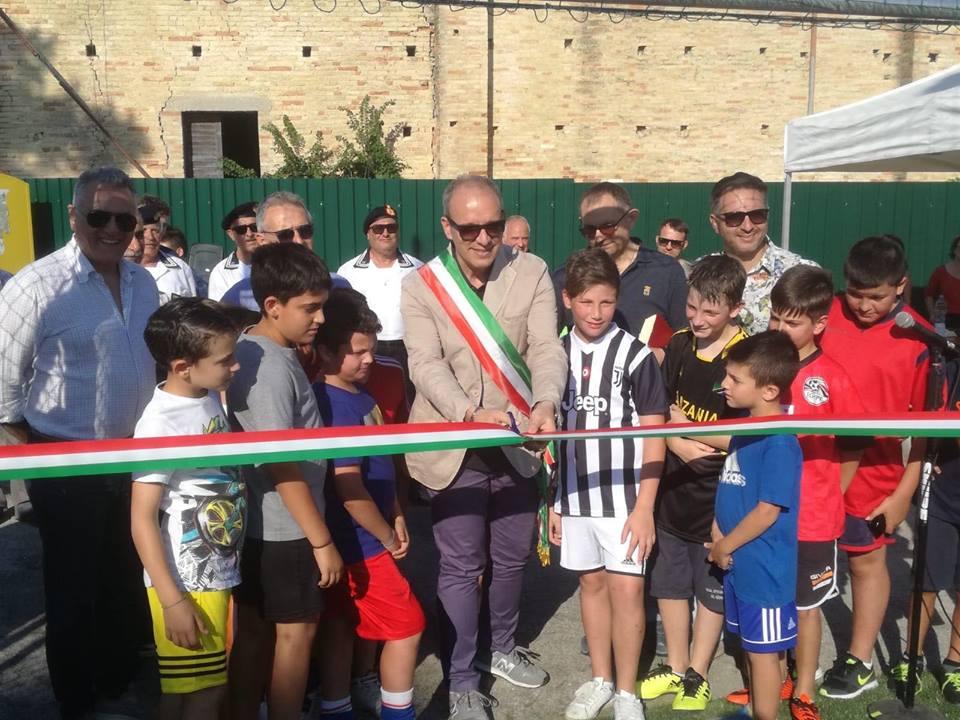 Pineto. Inaugurato il campo sportivo di Mutignano.Sindaco Verrocchio: