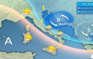 Meteo Abruzzo&Marche:ultimi disturbi, da giovedì rimonta l'alta pressione. Quindi molto caldo (Fonti BMeteo)