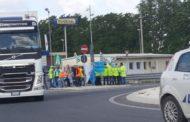 Sciopero e presidio contro gli appalti pubblici sulla A14 di Pescara Nord