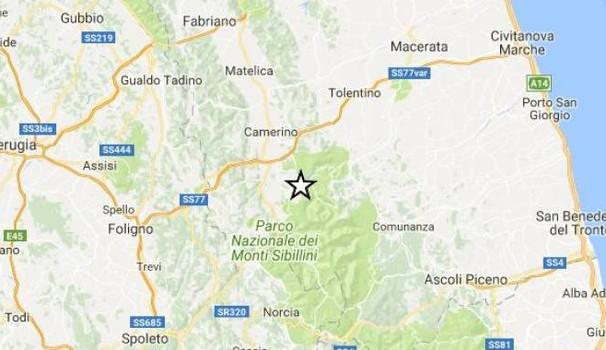 Terremoto.Nelle marche la terra continua a tremare: due scosse (3.0 e 2.7) nel maceratese