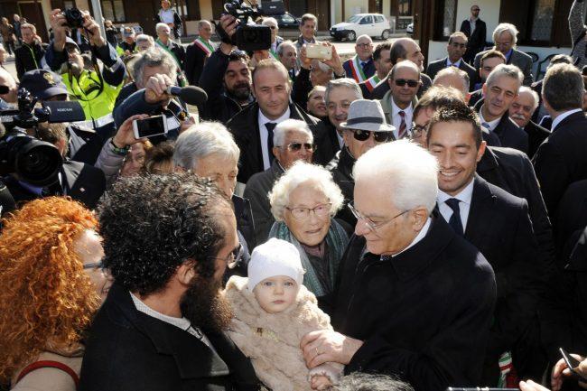 Terremoto. Il Presidente Mattarella in visita nel maceratese