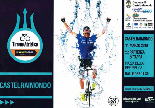 Ciclismo. Tirreno-Adriatica: l'11 Marzo farà tappa a Castelraimondo