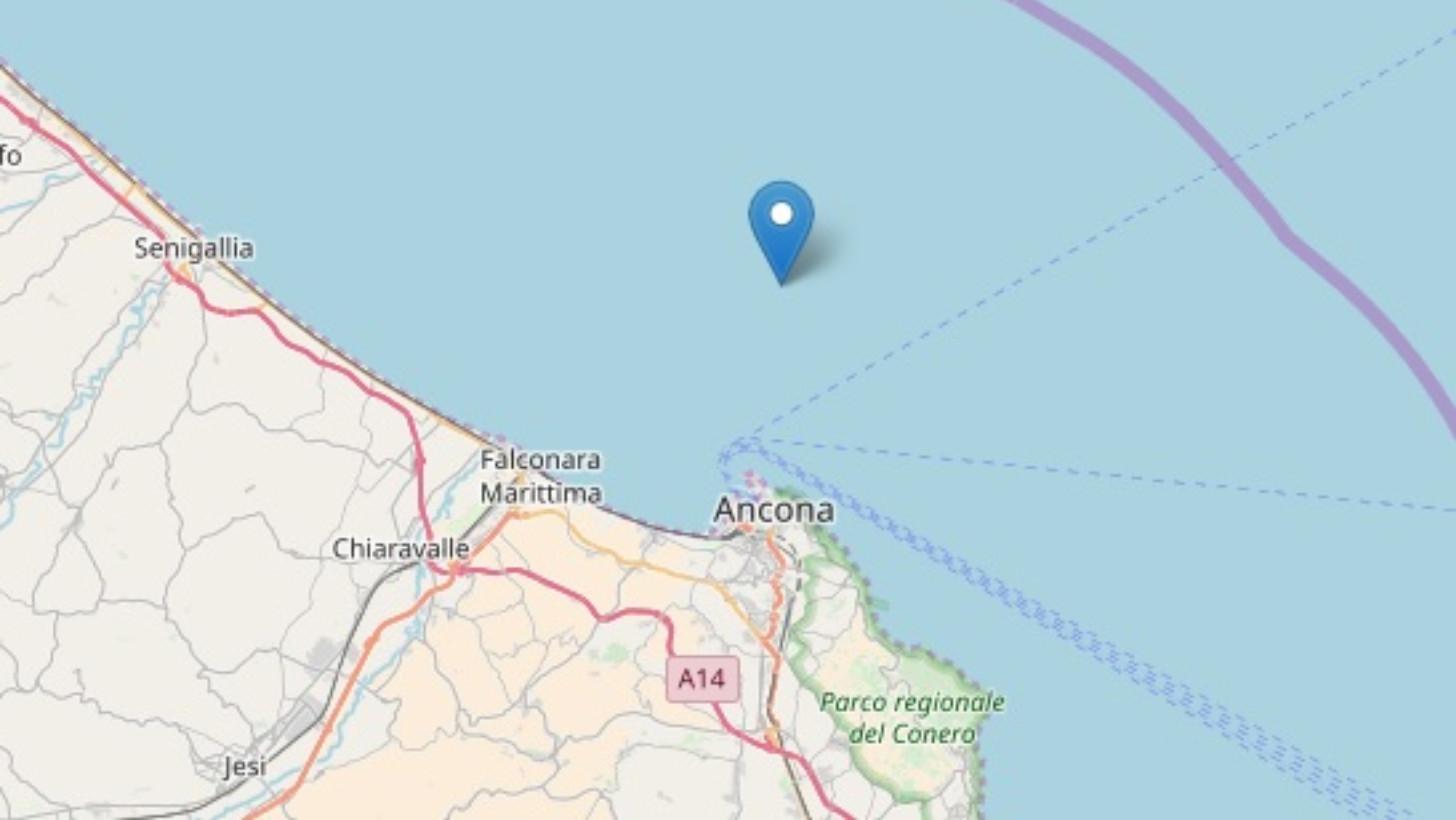 Terremoto continuo. Nella notte(ore 00:58) scossa lungo la costa(magnitudo 2.2)