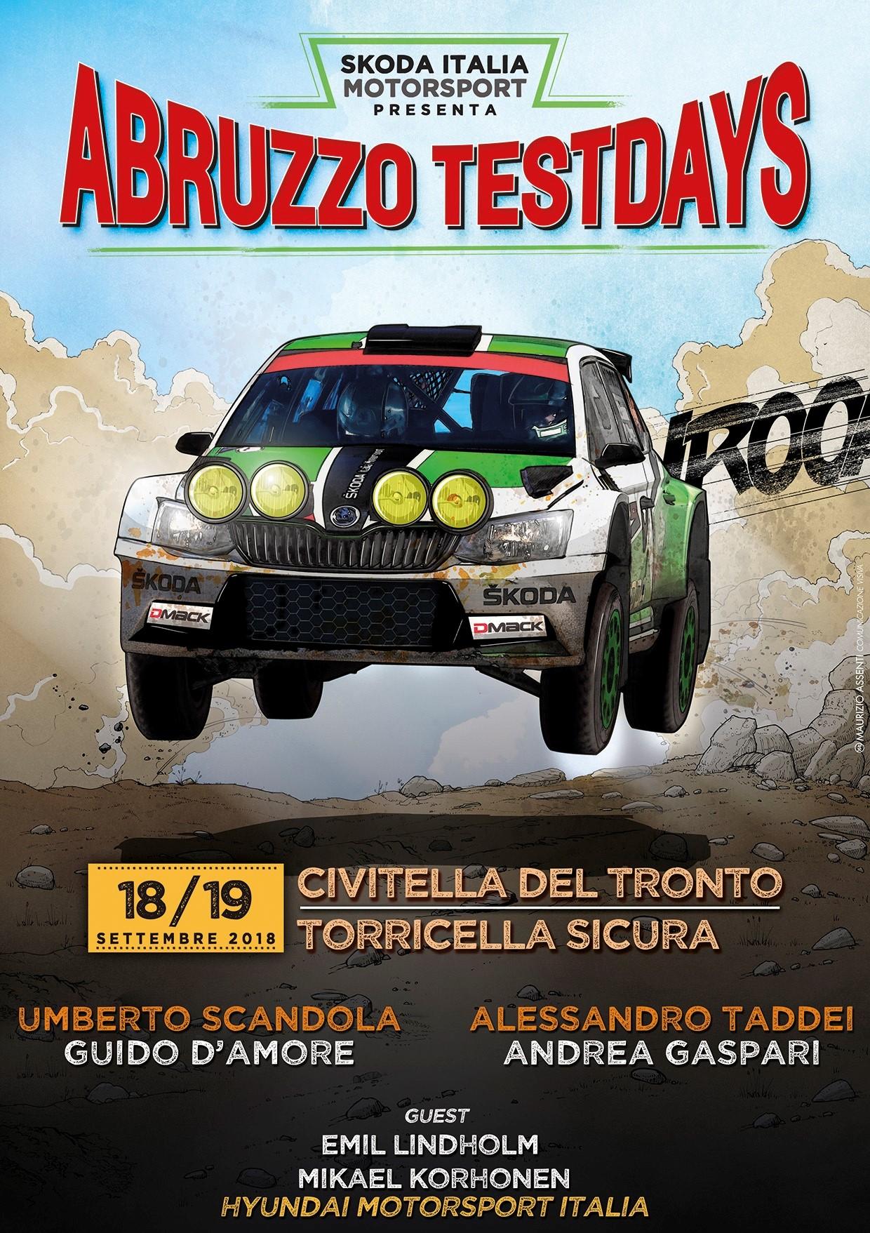 Teramo&Rally dell'Adriatico. Campioni per due giorni di prove su Skoda