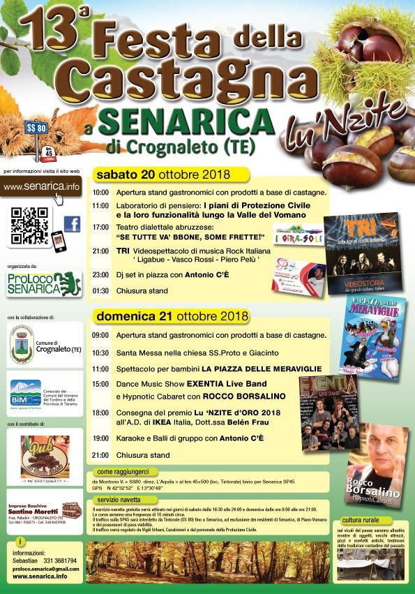 Crognaleto Arriva La 13 Festa Della Castagna Di Senarica