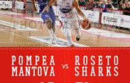 Roseto Basket. Non basta Person: gli Sharks sconfitti (85-78) all'esordio a Mantova