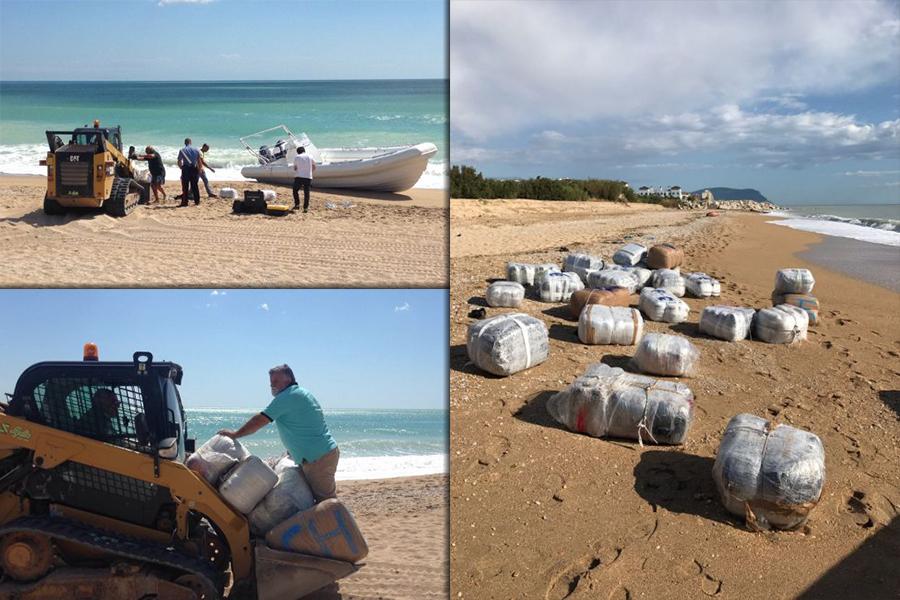 Trovate in spiaggia due tonnellate di marijuana: arrestato l'ultimo scafista