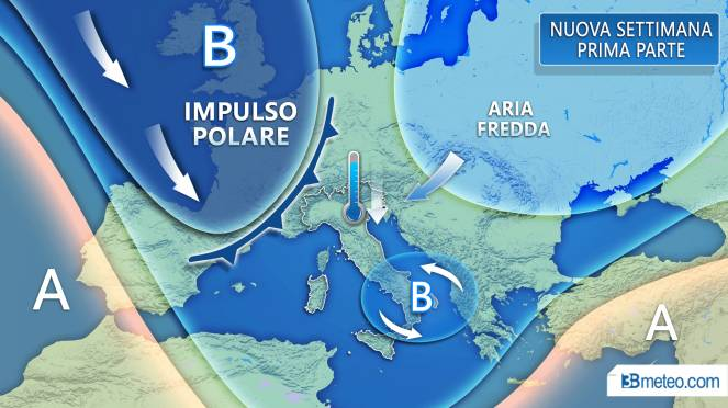 Meteo. Sta per finire l'assaggio di primavera: in centro-sud da venerdì prossimo torna freddo e gelo dalla Russia