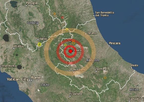 Ancora scosse di terremoto a L'Aquila(ore 9:11 e 3.4 di magnitudo):torna la paura