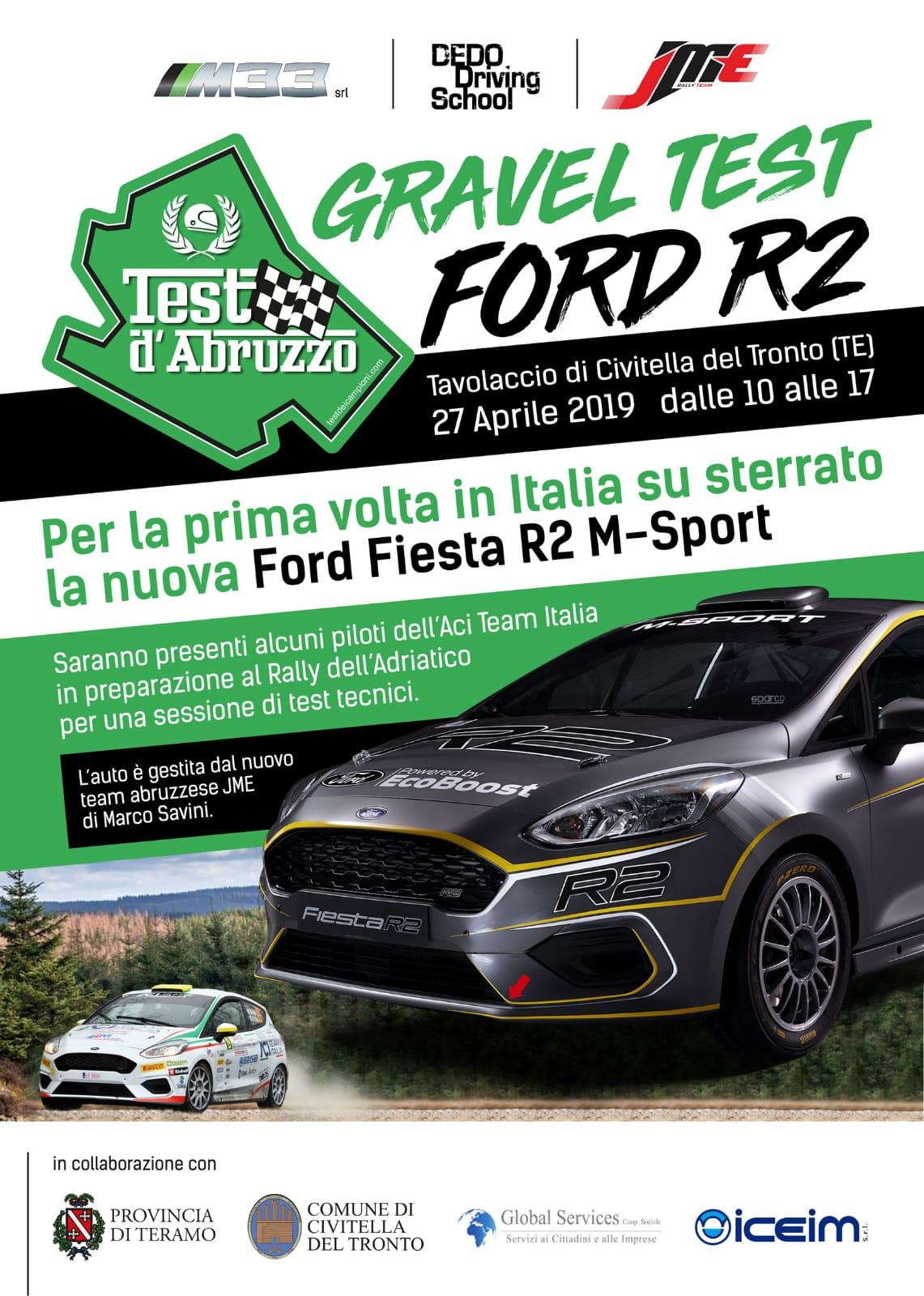 Automobilismo Rally.Nuovo test a Civitella del Tronto: debutta su sterrato la