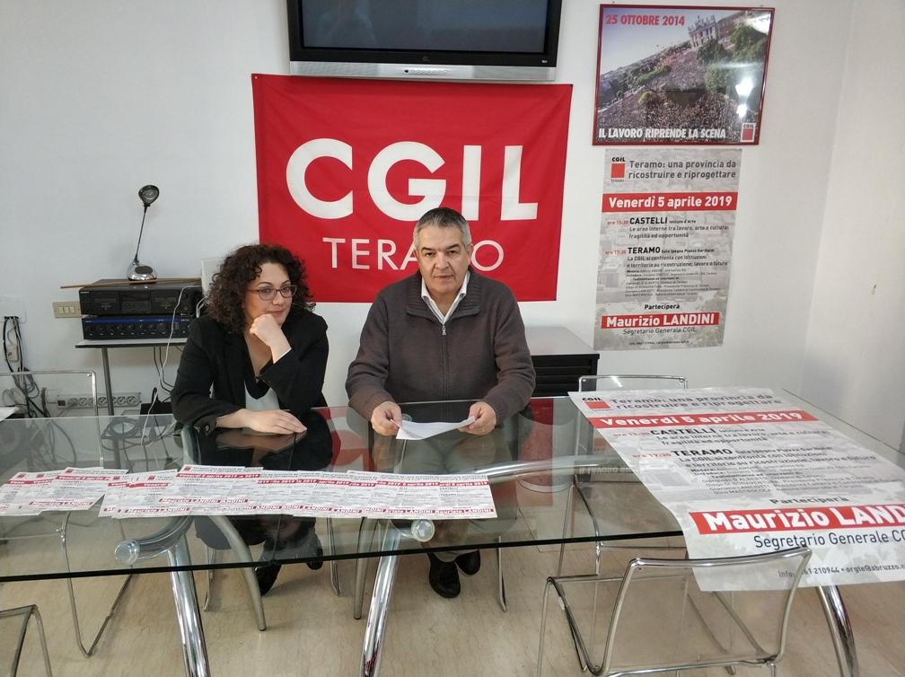 Teramo. Arriva il Segretario Generale della CGIL, Maurizio Landini. Visiterà anche le zone terremotate