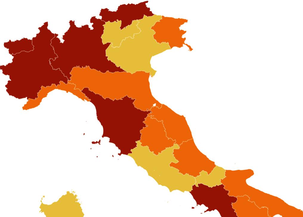 Litorale Marche Cartina.Marche Covid Da Domenica La Regione Diventa Zona Arancione Ecco Cosa Cambia Wallnews24